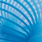 Image of a slinky to express a concept related to using memory techniques for language learning
