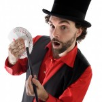 "Image of a corny magician to illustrate my argument that mnemonics are not ""tricks"""