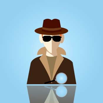 Image of a detective to express skepticism about the Sherlock Holmes Mind Palace concept