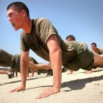 Image of soldiers completing push ups to illustrate a Memory Palace training concept