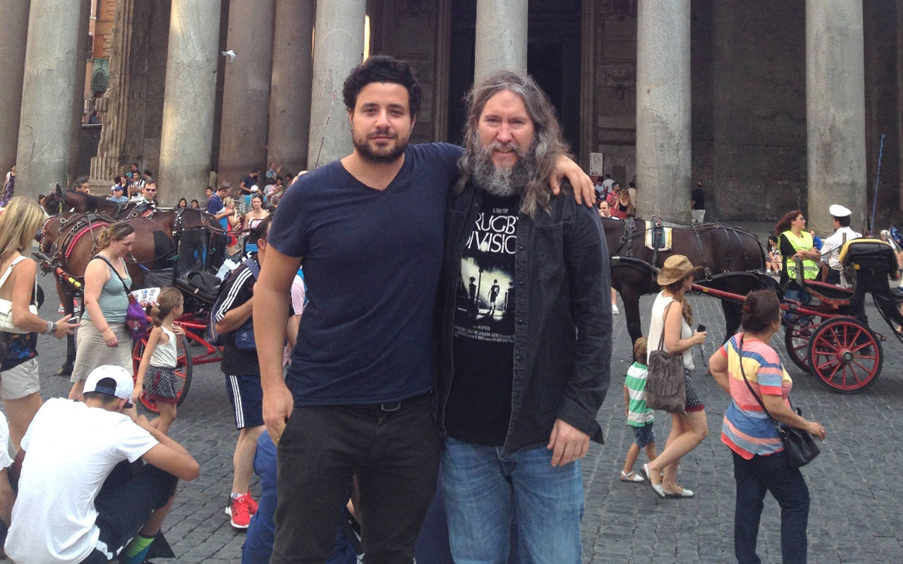 Luca Lampariello and Anthony Metivier in Rome