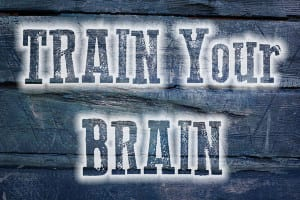 image with Train Your Brain message