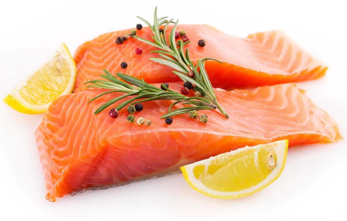 Image of two salmon fillets