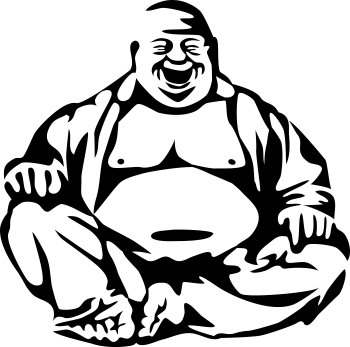 Image of the Buddha laughing