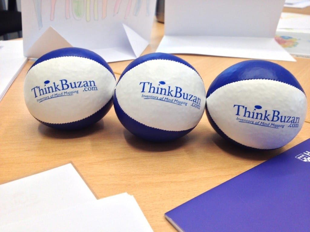 ThinkBuzan juggling balls for mental stimulation