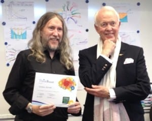 Anthony Metivier with Tony Buzan at a ThinkBuzan memory improvement course in the UK