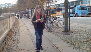 Anthony Metivier using his re-reading strategy in Denmark