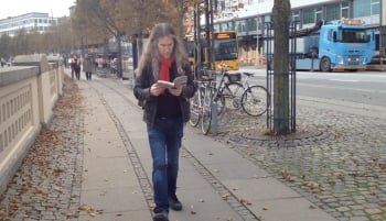 Anthony Metivier practicing his re-reading strategy in Denmark.