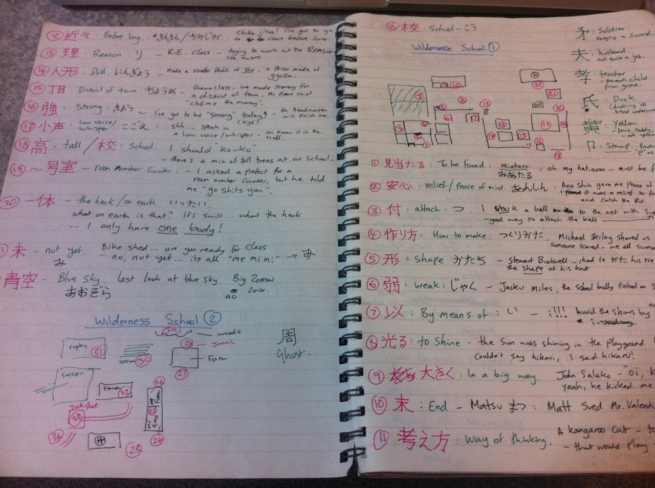 Kevin Richardson's perfect Japanese app - A Memory Palace in a Memory Journal