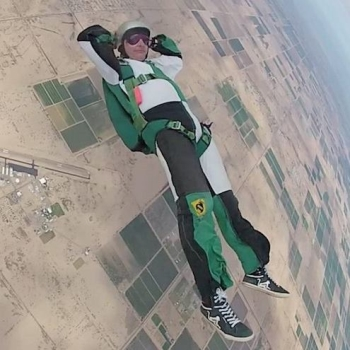Kevin Richardson skydiving while wandering a Memory Palace
