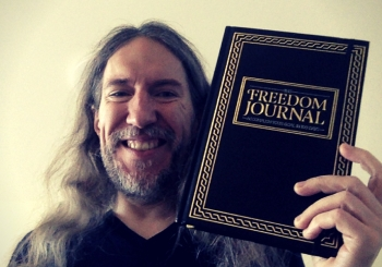 Anthony Metivier with The Freedom Journal for memory improvement and language learning