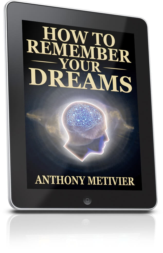 How to Remember Your Dreams Ebook Cover on Tablet by Anthony Metivier