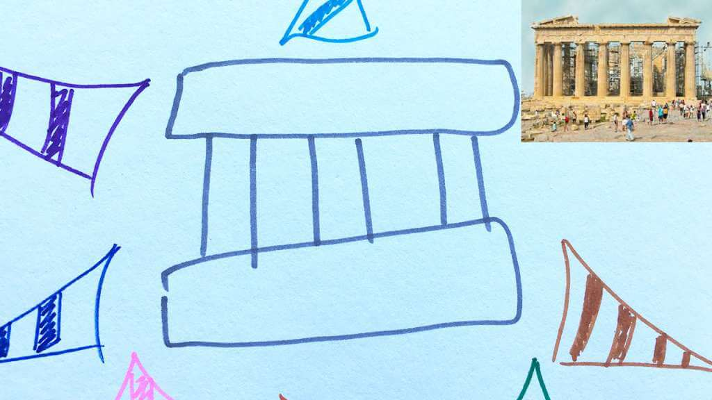 Mind Mapping Example with the Parthenon for Memory Palace Discovery