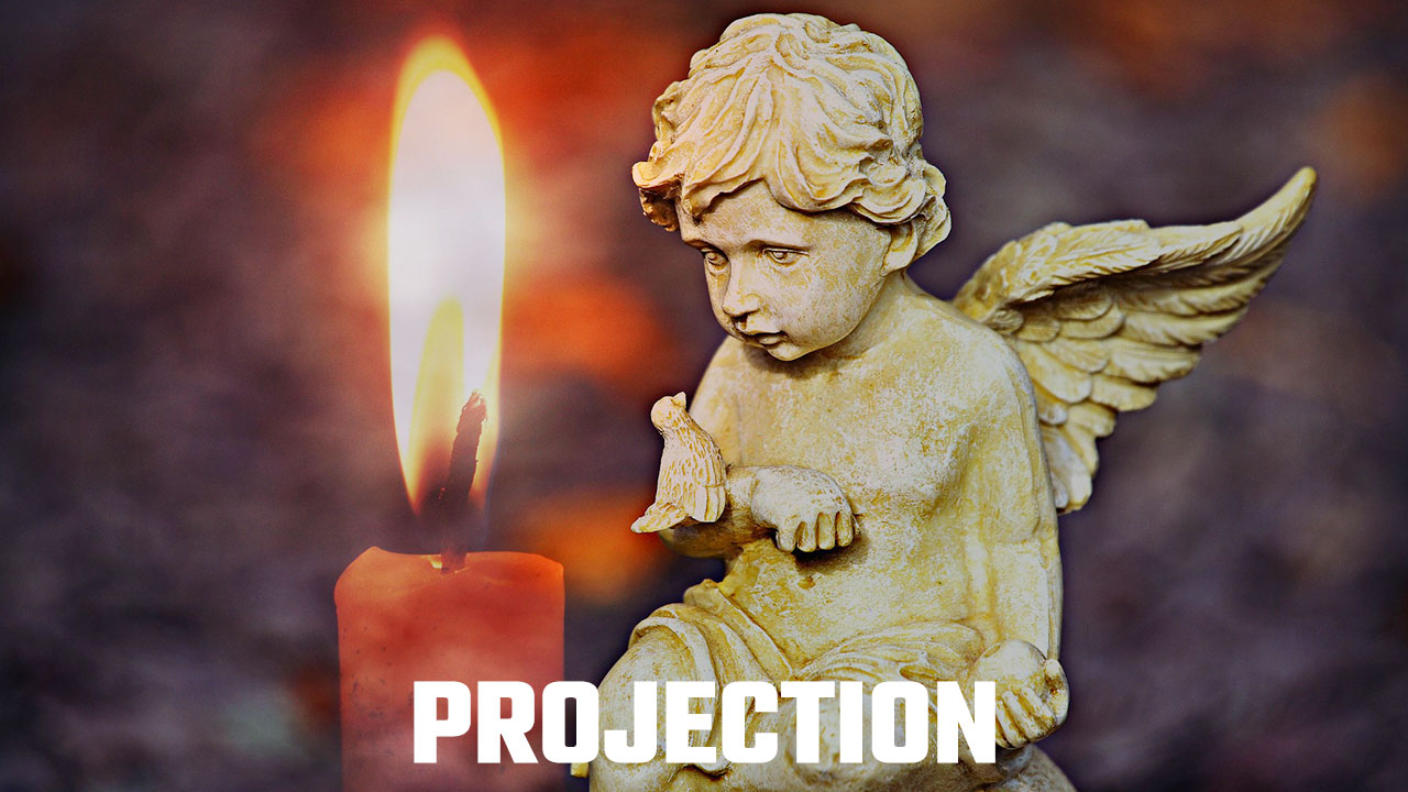 Image of An Angel with a Candle to Illustrate The Candle Exercise For Multi Sensory Visualization Exercise Projection