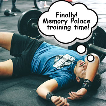 Memory Palace Training Exercises Feature Image of Athlete with a thought bubble