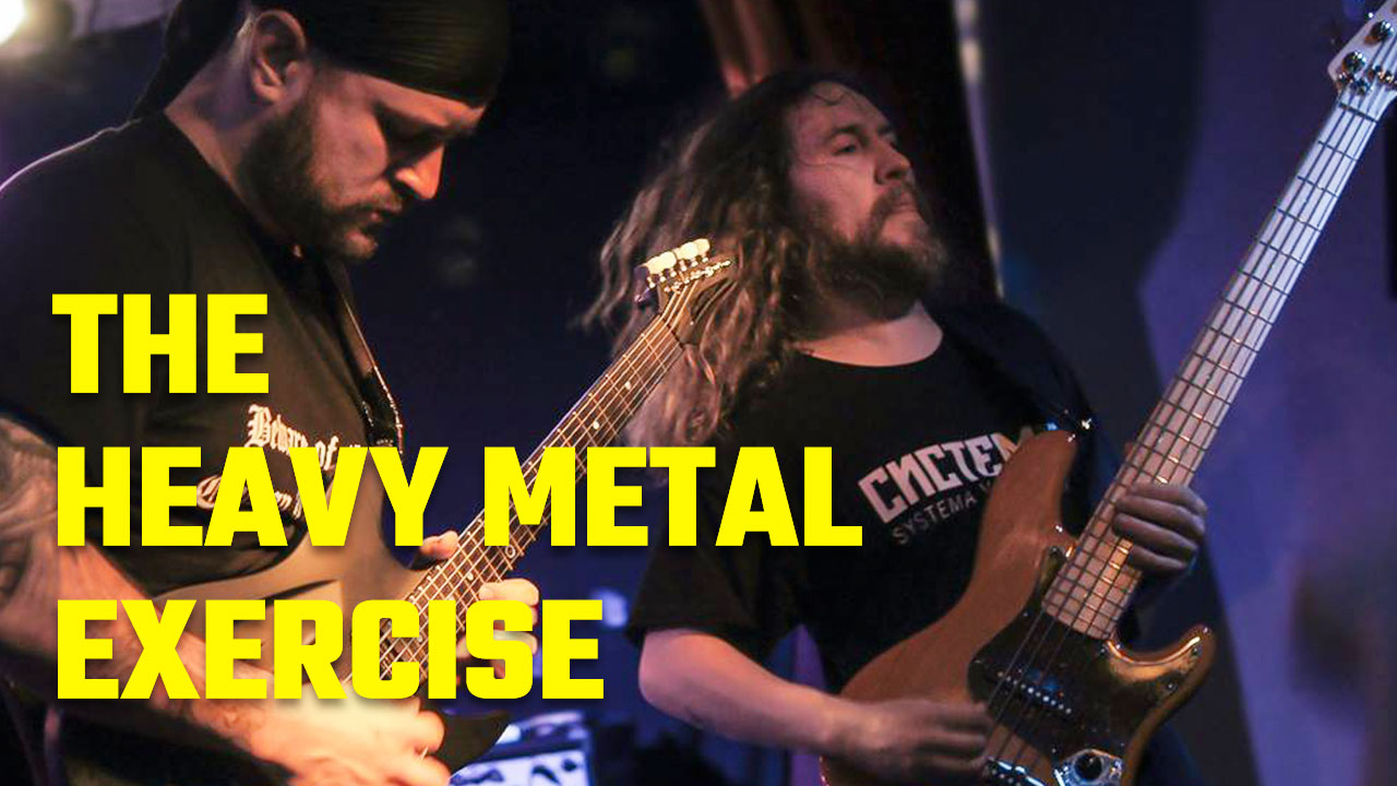The Heavy Metal Memory Palace Exercise Image of Anthony Metivier with Sergio Klein of The Outside circa 2013
