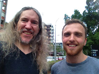 Anthony Metivier with Ben Fishel of ProjectMonkeyMind.com