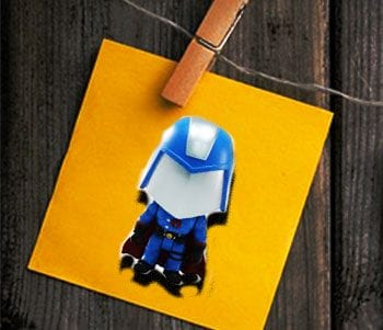 Feature image for Pegword Method Blog Post with Cobra Commander on a laundry peg