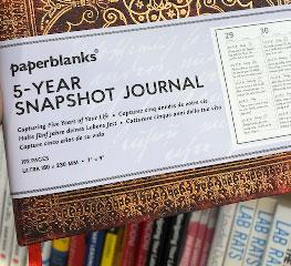 Original image of a 5 year snapshot journal