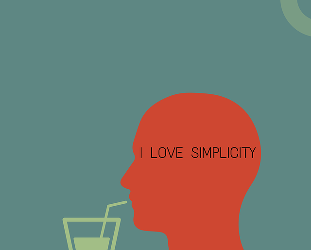 Image of a man drinking from a straw with I love simplicity logo