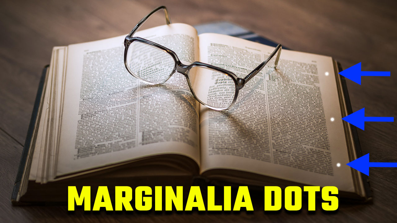 The Marginalia Dot learning technique illustration