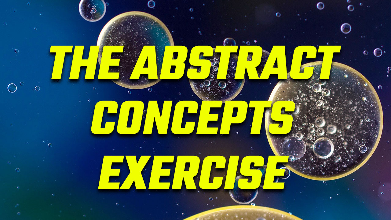 Title card for the abstract concepts memory exercise