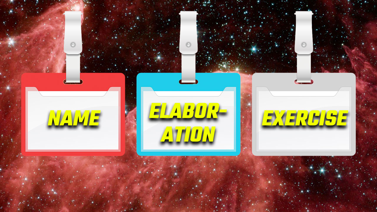 Title card for the name elaboration exercise