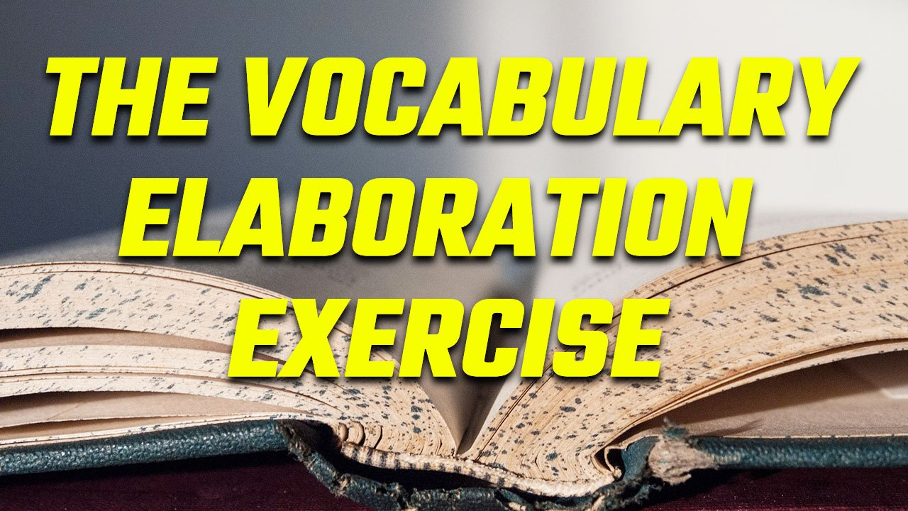 Title card for the vocabulary elaboration exercise