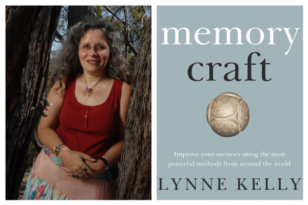 Lynny Kelly portrait with a cover of Memory Craft