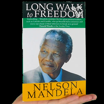 Long walk to freedom by Nelson Mandela in the hand of Anthony Metivier for Mandela Effect Magnetic Memory Method Blog Feature Image