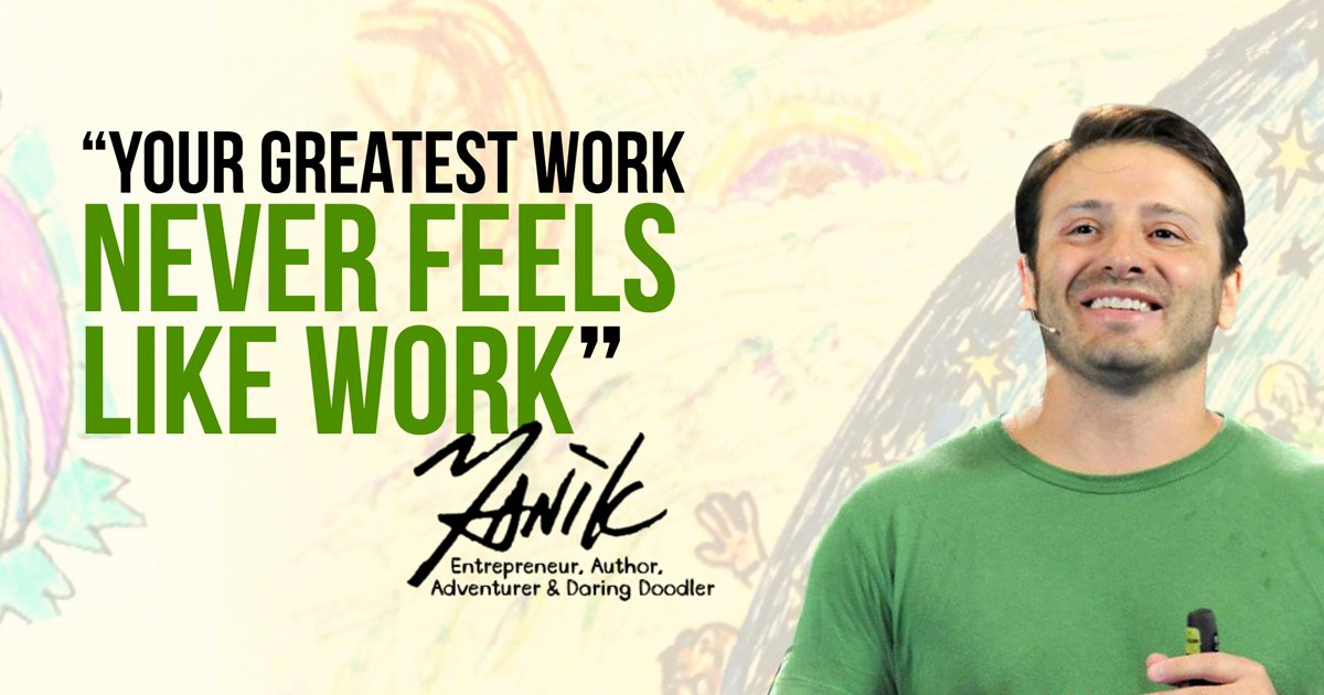 "Yanik Silver Quote Graphic ""Your Greatest Work Never Feels Like Work"""