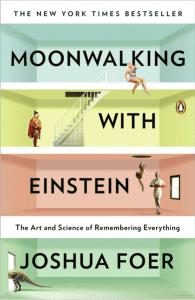 Moonwalking with Einstein, Joshua Foer, Cover