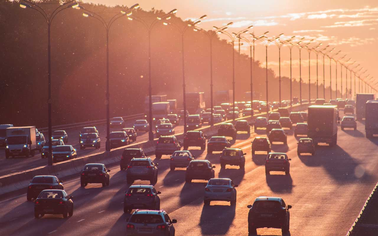 Cars in traffic. Your attention is useful when listening to music or podcasts while sitting in traffic.