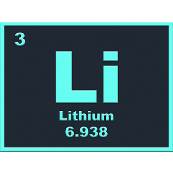Lithium element from the periodic table