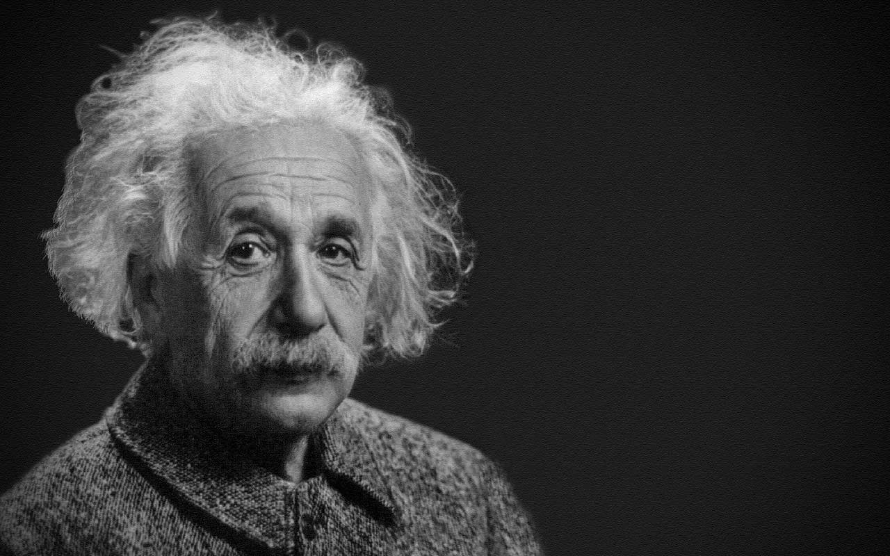 A portrait of Albert Einstein, who likely didn't say many of the quotes attributed to him.