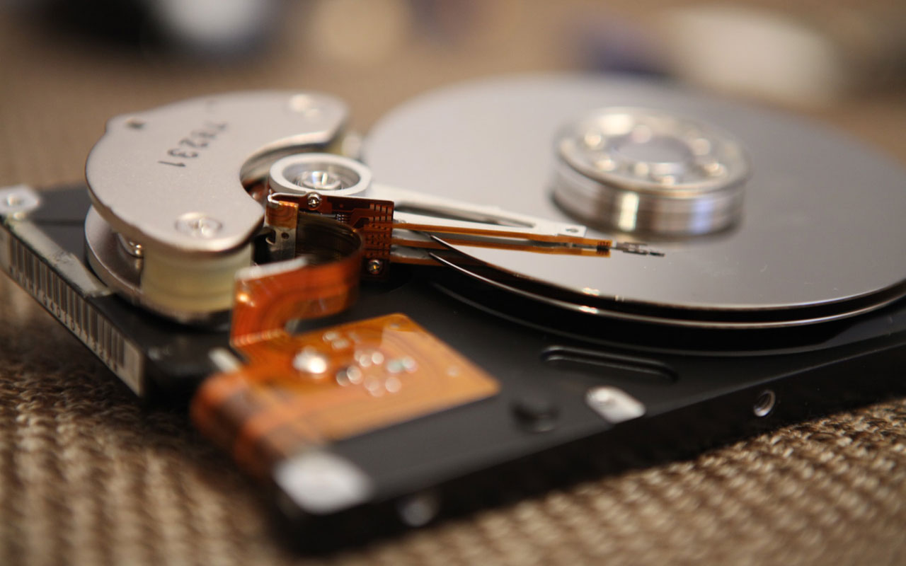 An open computer hard drive. Your brain has space for a lot of memorized information, but you should make a plan to carefully store it before beginning to memorize.