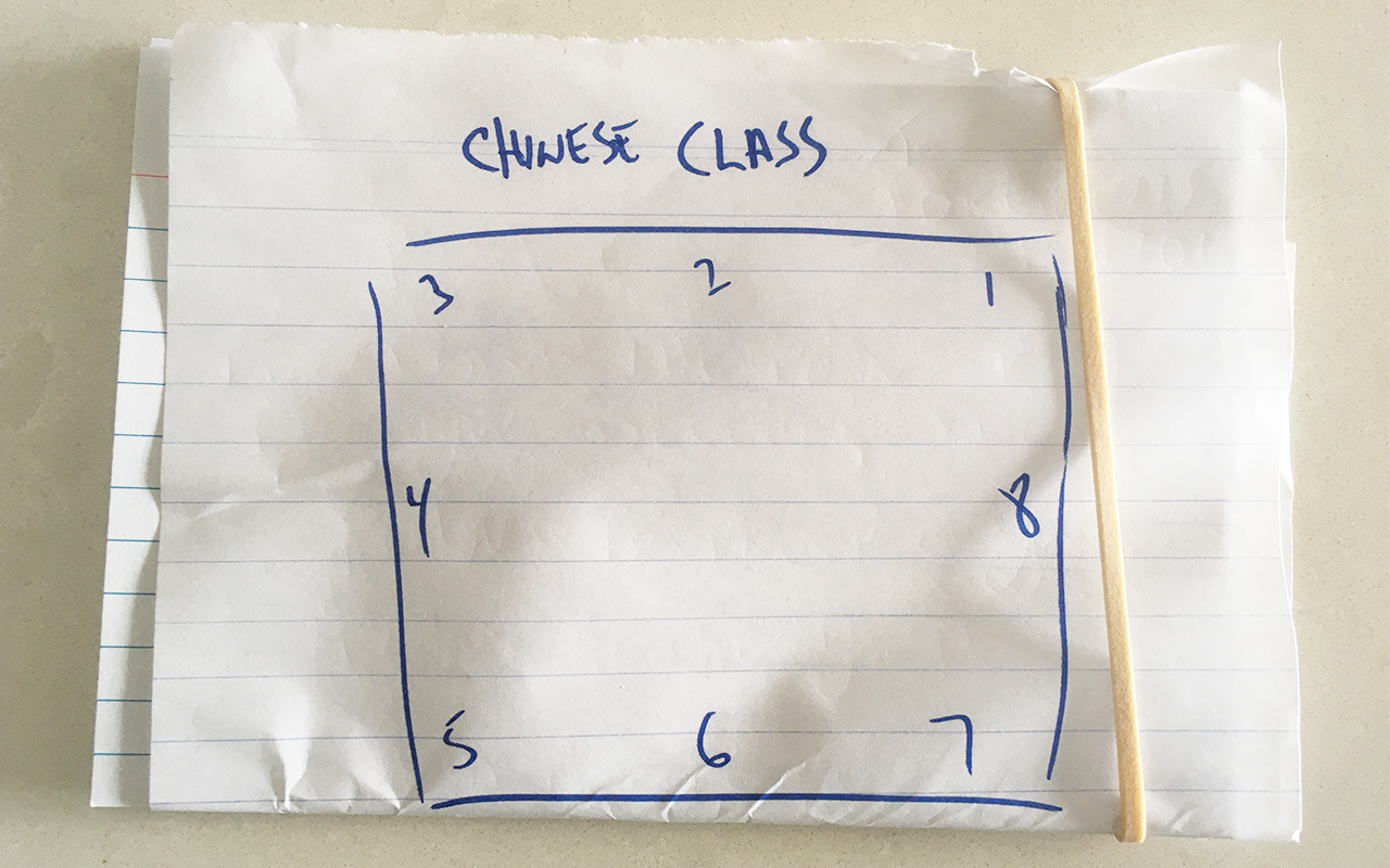 A method for storing Chinese flash cards in a Memory Palace