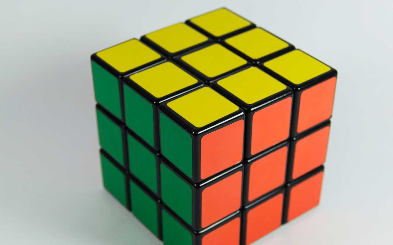 A Rubik's cube, a type of brain exercise that can help improve memory.