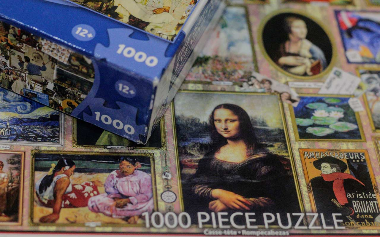 A 1000-piece puzzle of famous artwork. Creating a system and choosing a specific number of things to learn can help you become a polyglot.