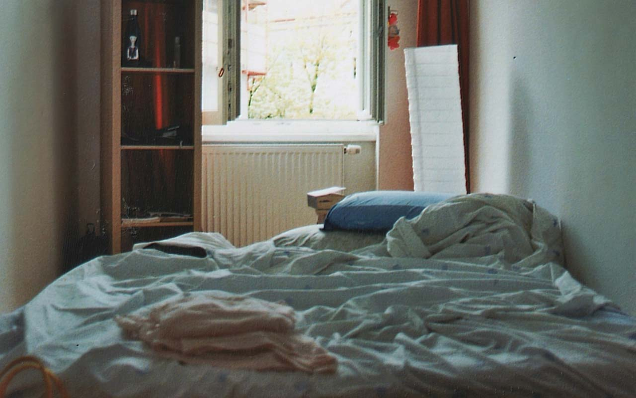 A messy, unmade bed - a metaphor for a messy brain.