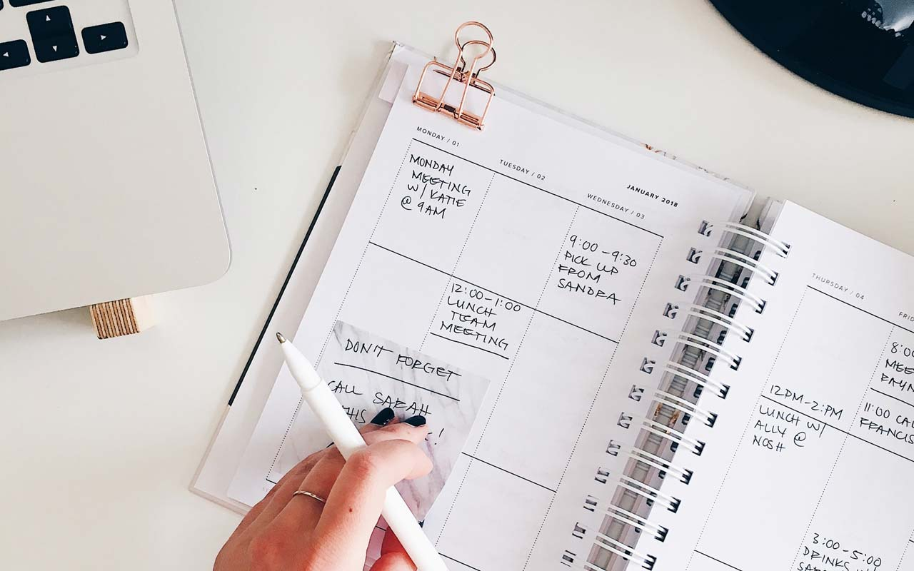 A monthly planner, like you could use to make a plan for how to study effectively.