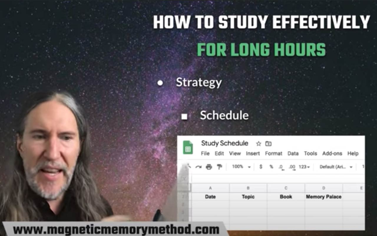 How to Study Effectively for Long Hours, a YouTube Livestream by Anthony, where he discussed how to create a study schedule.
