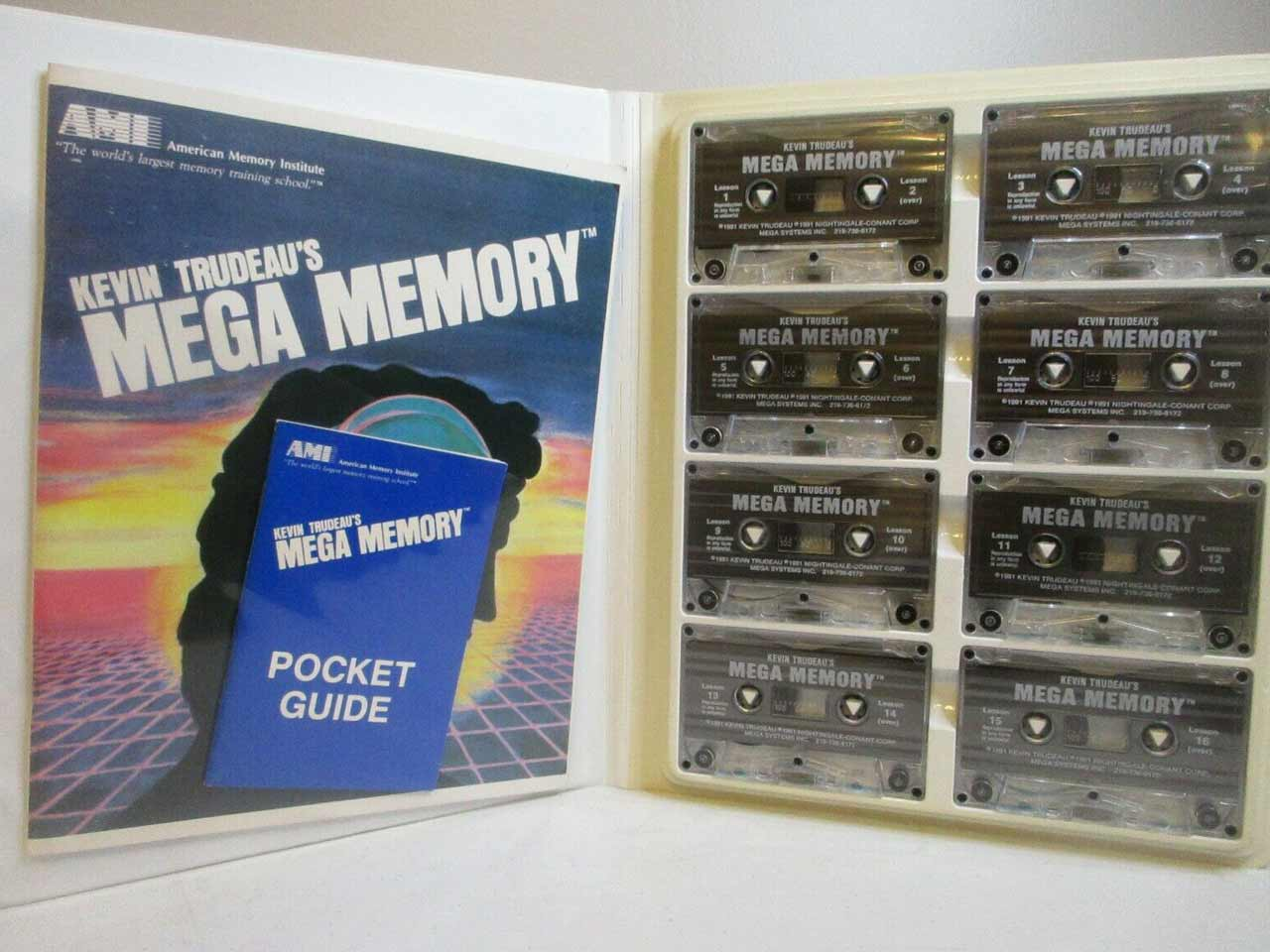 Cassette tapes of Kevin Trudeau's Mega Memory audio program.