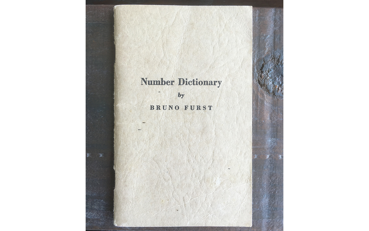 The Bruno Furst Number Dictionary