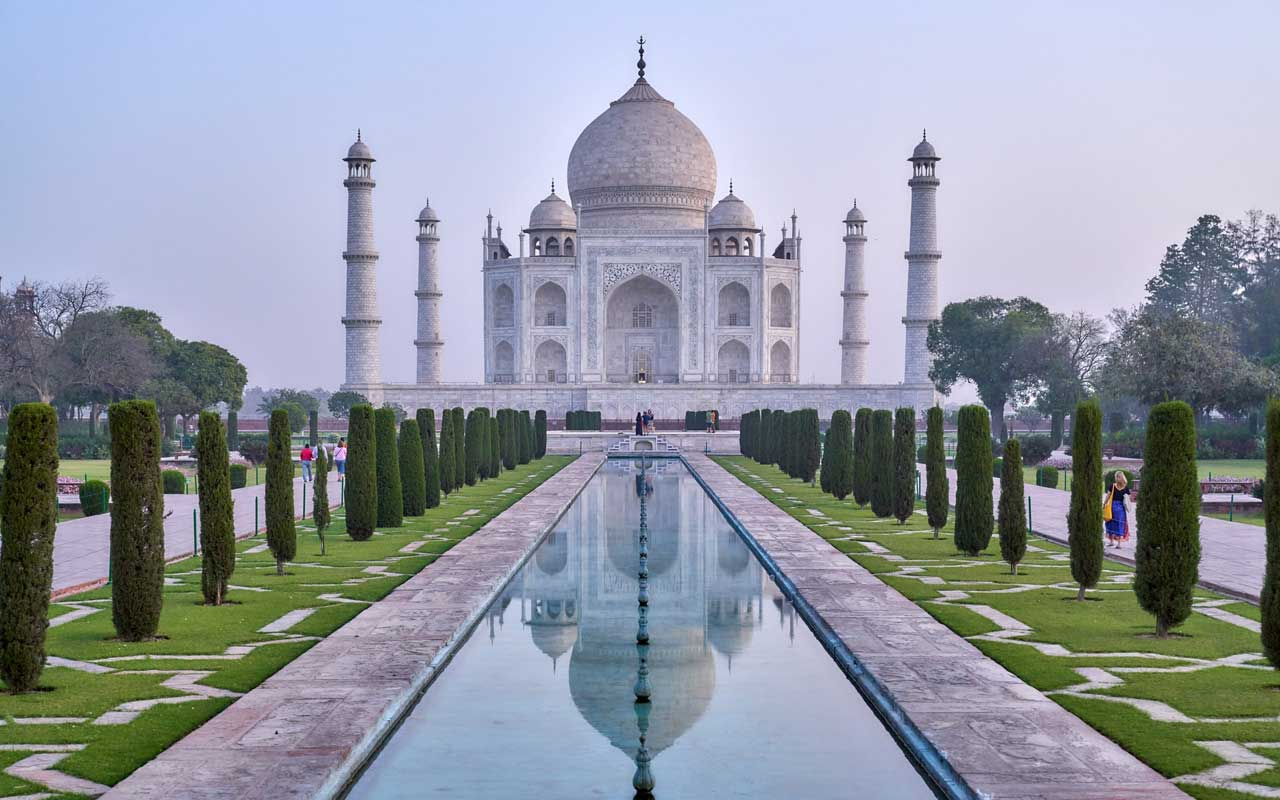 The Taj Mahal in India. Hindi and Punjabi are among the best languages for business.
