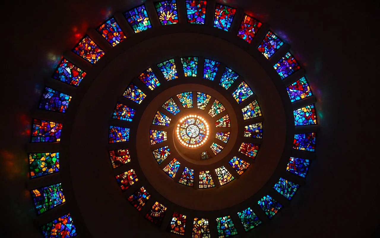 pattern of stained glass windows