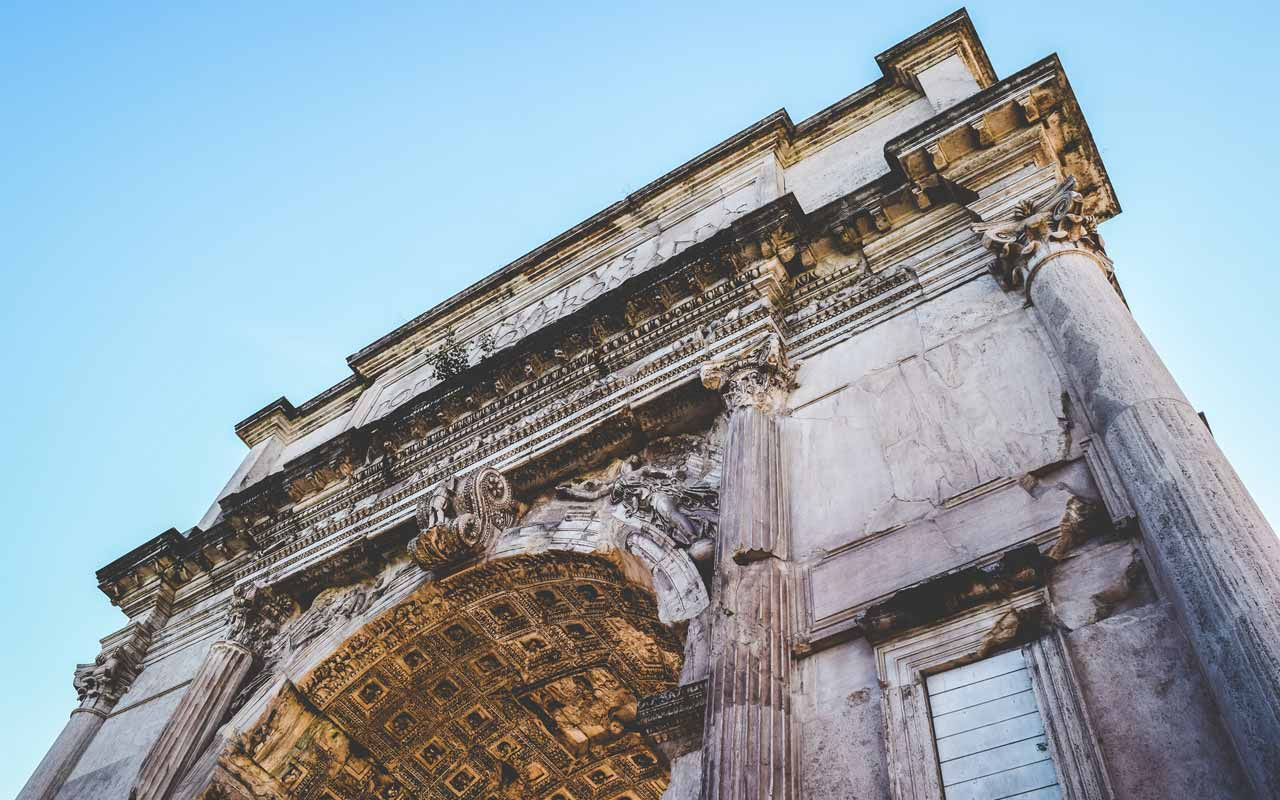 The Arch of Titus, Rome, Italy