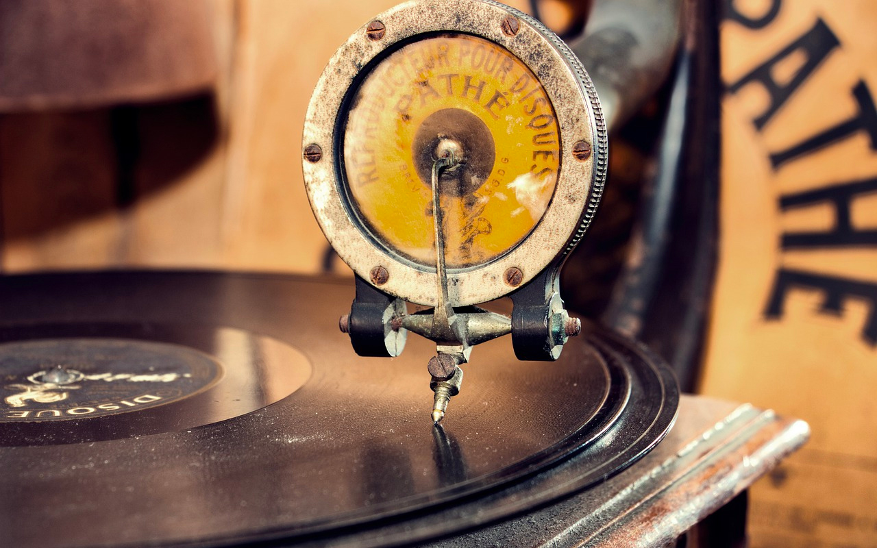 An old record player