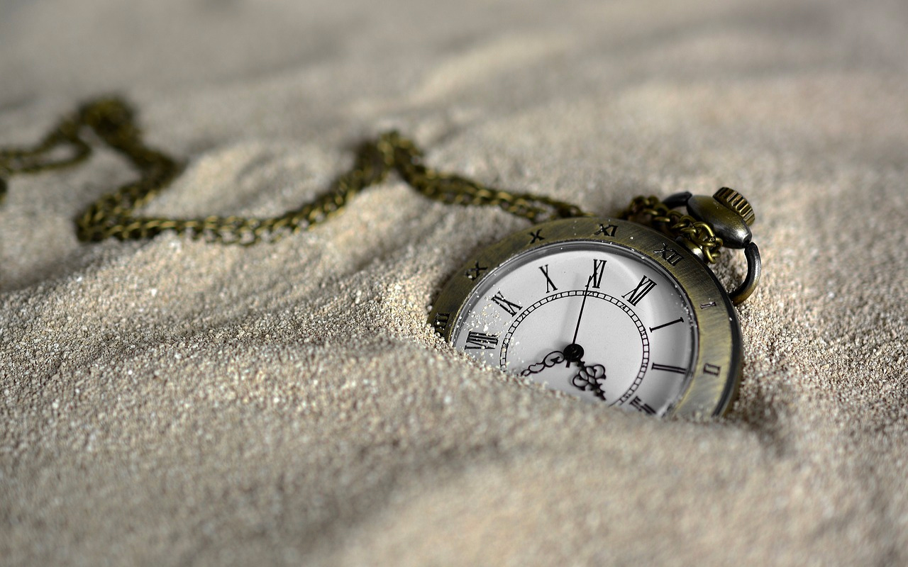 A watch in sand