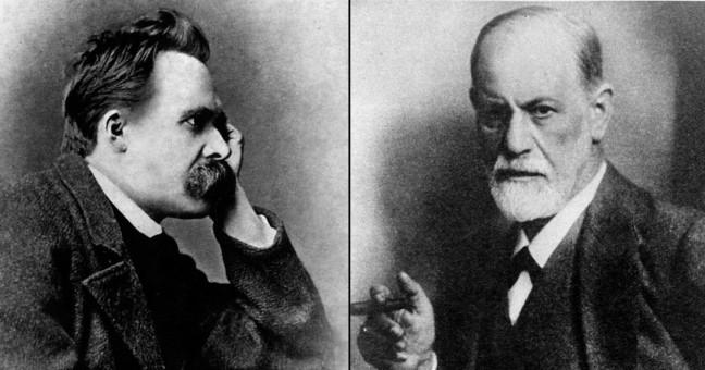 Sigmund Freud and Friedrich Nietzsche